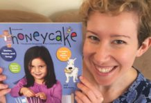 Anna Caplan with the first edition of Honeycake