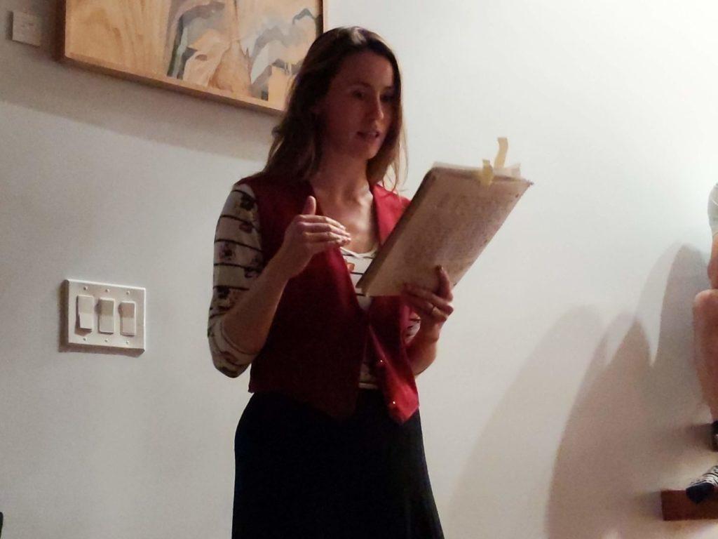 Asya Zlatina reads from her diary at HashtagTMI