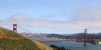 Golden Gate Bridge, as seen from Marin Highlands