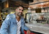 Nadav Abergel in his new Star of David location