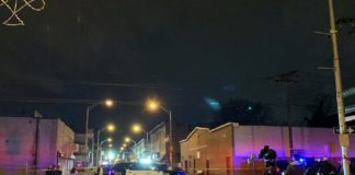 the scene near the kosher supermarket shootout in Jersey City