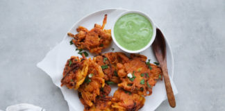 onion and chickpea fritters