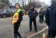 a volunteer Orthodox guard in Monsey, N.Y.