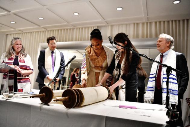 Rabbi Susan Silverman, Rabbi Yoshi Zweiback, Tiffany Haddish, Aliza Rose Silverman and Billy Crystal