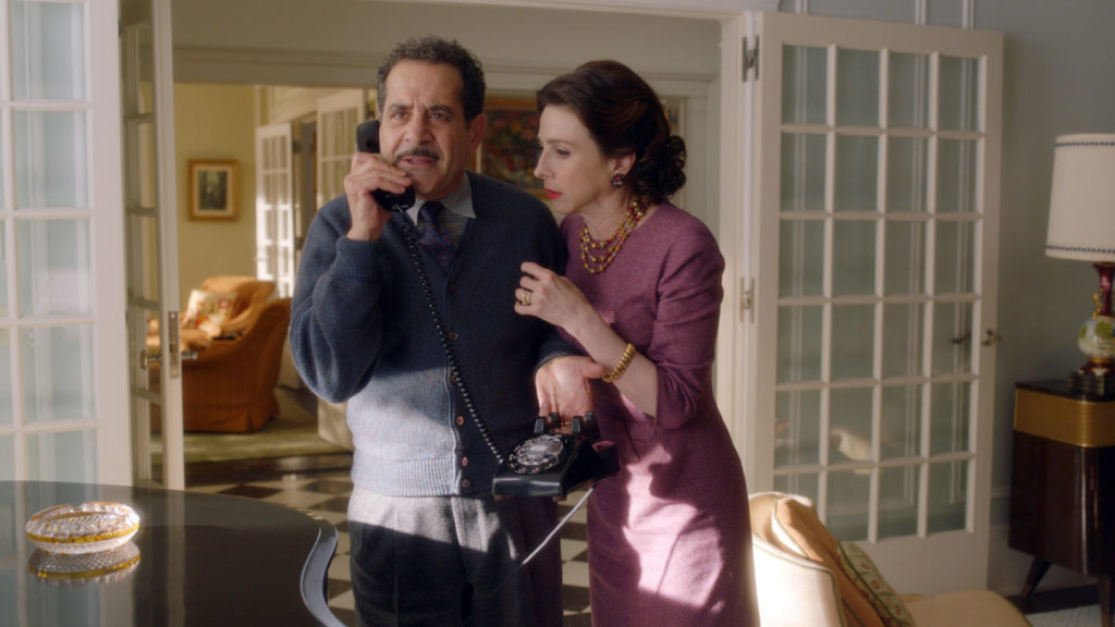 Tony Shalhoub plays Abe Weissman and Marin Hinkle portrays his wife, Rose