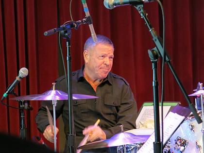 Bruce Klauber drumming at World Cafe Live