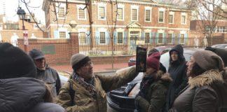 Jerry Silverman outside Presbyterian Historical Society building