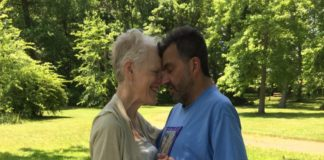 Janet Berkowitz with her husband, Phil