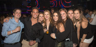 a group of attendees at a MatzoBall party