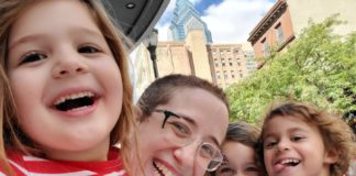 Beverly Socher-Lerner and children