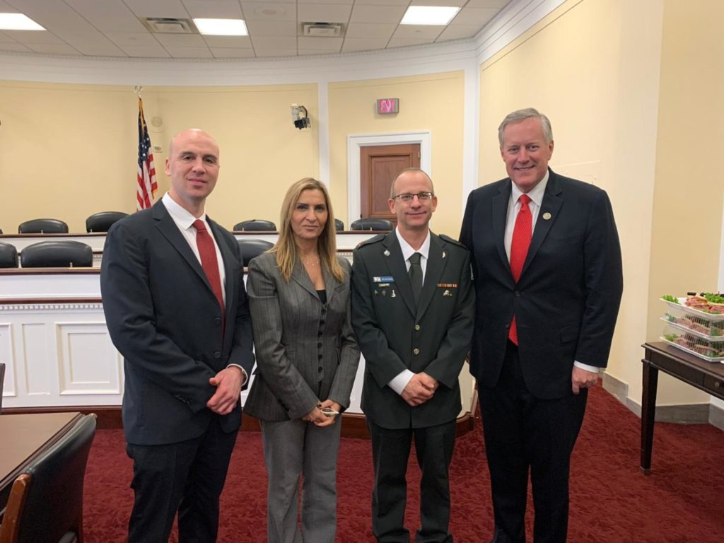 Benjamin Anthony, Rozita Pnini, Brig. Gen. Amir Ebstein and U.S. Rep. Mark Meadows