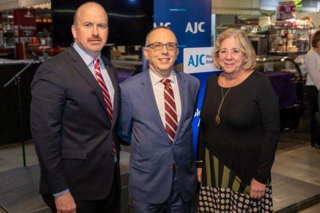 State Rep. Matthew Bradford, David Hyman and Arlene Fickler