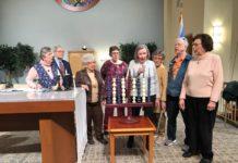 Phyllis Halpern, Sid Forman, Ruth Lowenthal, Barbara Steimen, Barbara Joseph, Helen Newman, Mimi Travis and Sandy Hellor