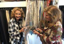 Arlene and Carole Ginsburg peruse the racks