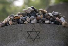 Stones on a Jewish grave.