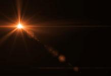 burst of light in space