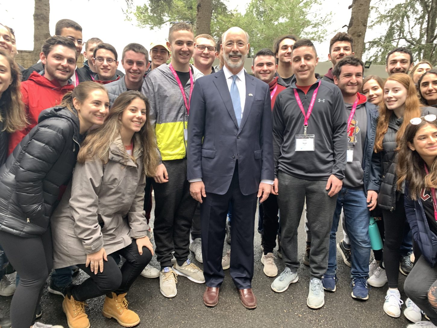Gov. Tom Wolf with students