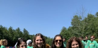 The Camper Care team at Pinemere Camp during the summer of 2019
