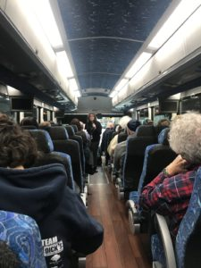 a bus heading from Philadelphia to New York