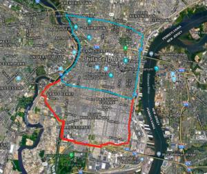 map of Center City eruv