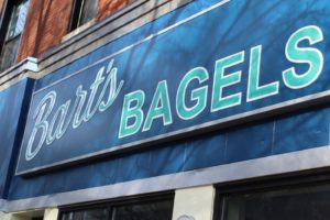 Bart's Bagels sign