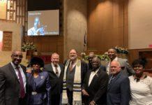 The leadership of Keneseth Israel, Beth'El and AJC.