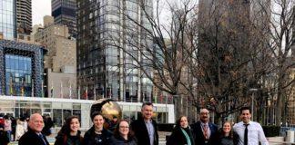 From left: Andrew Demchick, Dylan Steinberg, Maya Perry, Jennifer Steinberg, BJ Hoffman, Hilary Levine, Aziz Nathoo, Liat Rosov and Tarik Kahn