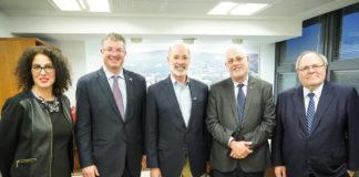 From left: Vered Nohi, Neil Cooper, Gov. Tom Wolf, Uri Sivan and Ambassador Dani Dayan