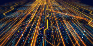 Futuristic Circuit Board Render