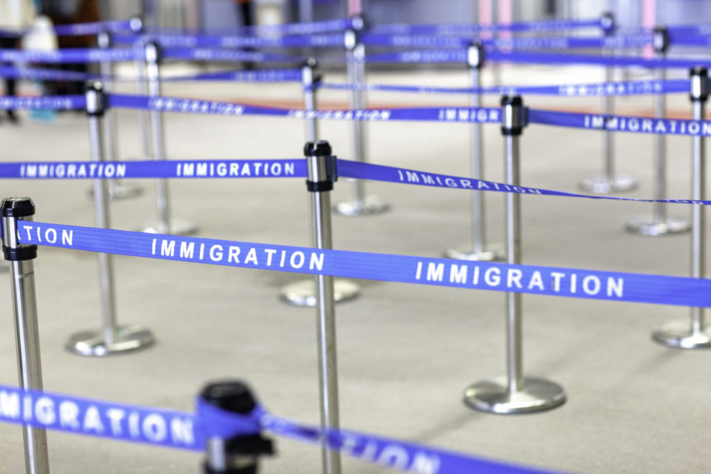immigration board line