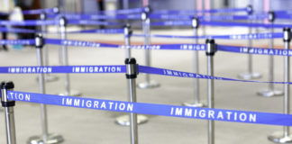 immigration board line