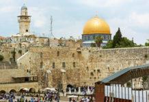 Wailing wall in Jerusalem.