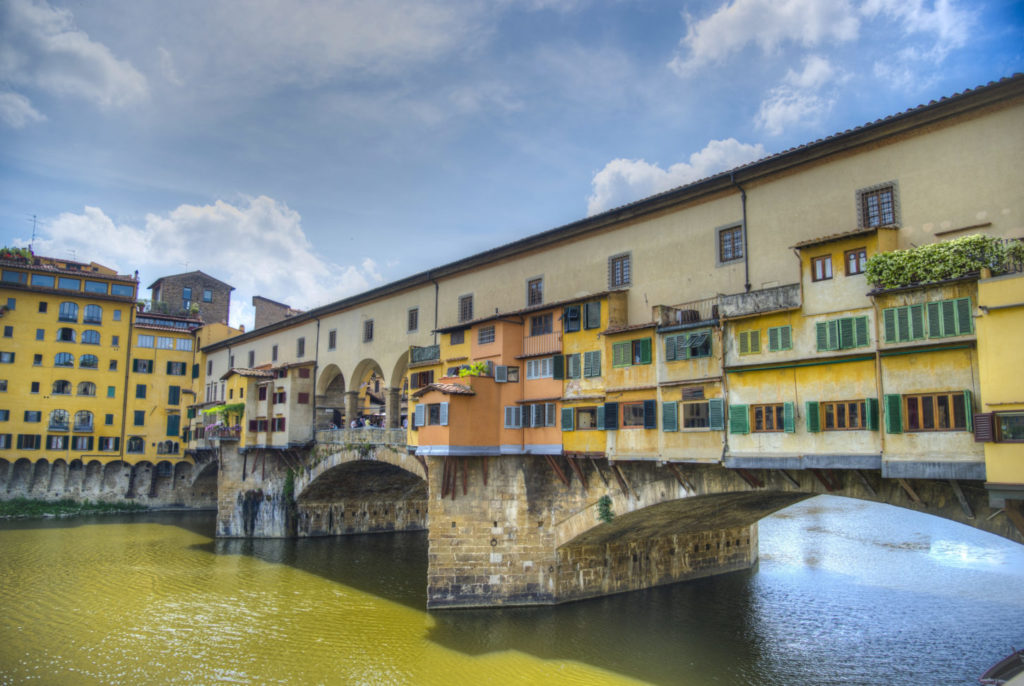 Bridge in the city of Florence, Italy