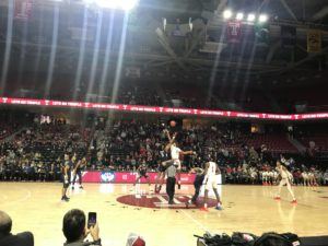 Opening Tip between Temple and UConn at Jewish Heritage Night at the Liacouras Center