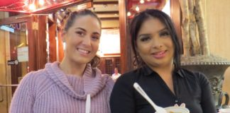 From left: Carmine's Atlantic City employees Jordan Limauro and Stephanie Gomez served 132 meatballs to patrons