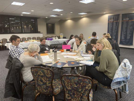 NextGen members take part in an interactive activity.