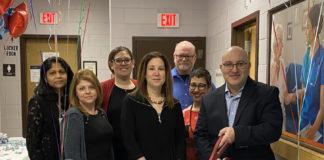 From left: Rony Sunoj, Lana Pozdnyakov, Leah Sorokorensky, Joy Biller Shore, David Payne, Sue Aistrop and Andre Krug