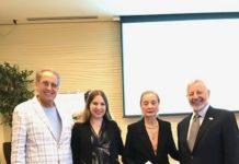 From left: Bob Dunn, Jessica Cauchard, Ann Waldman and Ed Kaplan