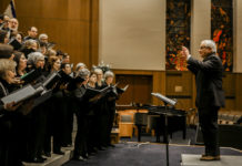 Cantor David F. Tilman conducts at Reform Congregation Keneseth Israel, where he's been the choir director since 2011.