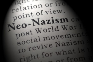 Fake Dictionary, Dictionary definition of the word Neo-Nazism. including key descriptive words.