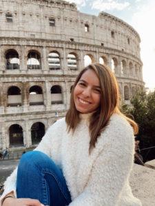 Temple University student Shiraz in Rome