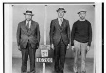 Bootlegger Waxey Irving, left, served prison time in Philadelphia.