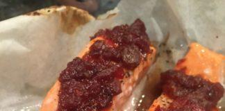 chutney salmon cooked