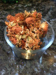 granola served in bowl