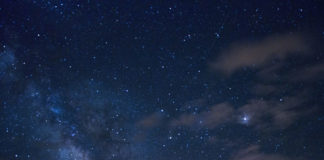 stars, stary night, village, village night