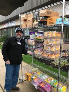 Cantor Scott Borsky delivers pet food and supplies to owners in need due to COVID-19.