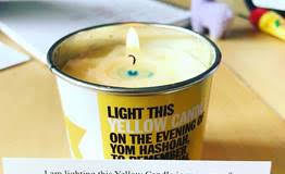 a yellow candle