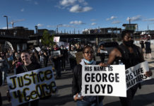 Protesters in Minneapolis, Minnesota, demonstrated against the death in police custody of George Floyd, May 29, 2020. (Stephen Maturen/Getty Images)