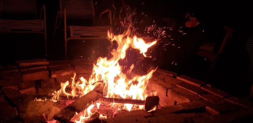 The Sauerhaft family bonfire